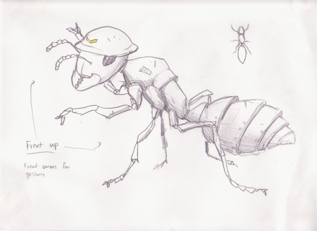 Soldier Ant Sketch by Ted Hansen